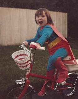 Christmas day 1984, Glasgow,Scotland. Santa brought me a red bike and Superman costume. Best. Day. Ever.