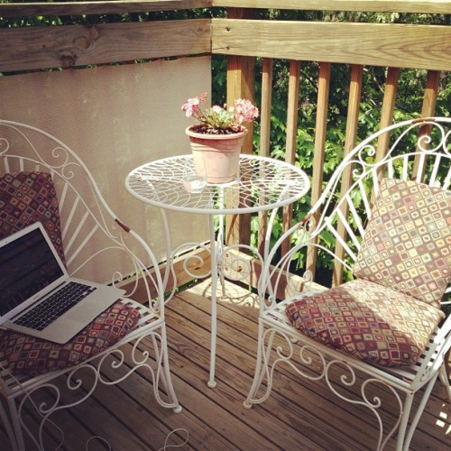 My office yesterday. It's such a blessing to be able to work from home. How did I get so lucky?