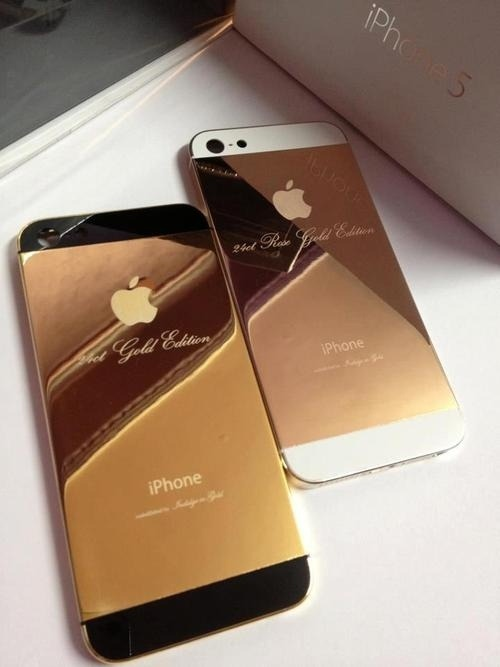 hellomissfuckingawesome:  the limited gold edition of an iphone 5 :o #want