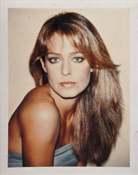 Andy Warhol Polaroid of Farrah Fawcett. More here.
