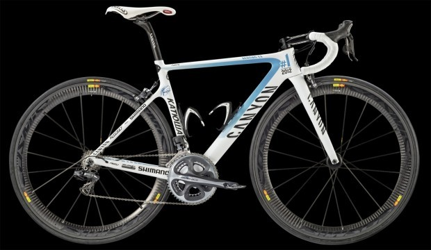 Joaquim Rodriquez' Canyon Aeroad CF. The bike was specially made to celebrate his no.1 position in the 2012 UCI World Tour.