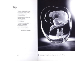 April is National Poetry Month! To celebrate, we're sharing images from Poetry in Crystal, a collaboration between The Poetry Society of America and Steuben Glass. Trip. Poem by Hollis Summer. Glass design by George Thompson. Engraving design by Robert Vickrey. Poetry in Crystal: interpretations in crystal of thirty-one new poems by contemporary American poets, Steuben Glass Inc., 1963, CMGL 59401.