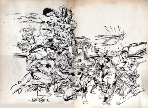 johnbyrnedraws:  Official Handbook of the Marvel Universe #10 cover by John Byrne & Joe Rubinstein. 1986.