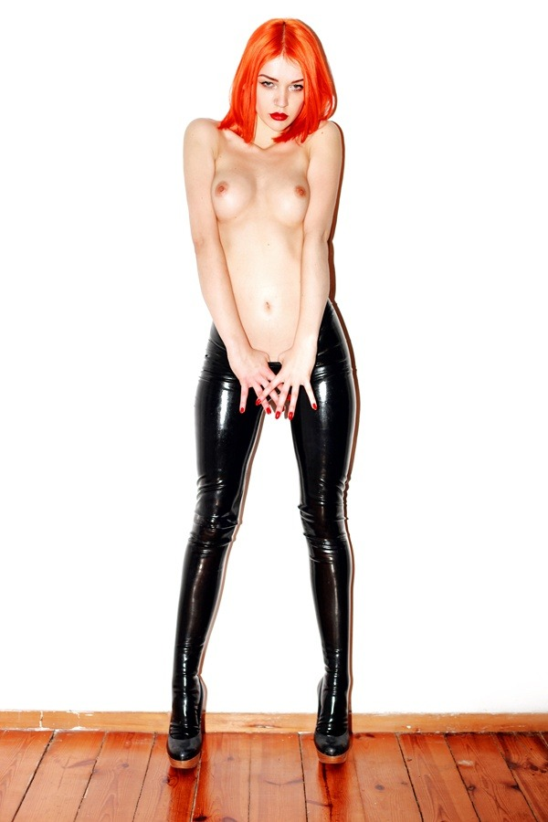 She's just wearing #latex pants. I love #tits