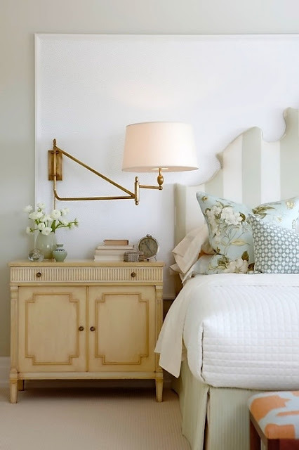 delicate palette for this lovely bedroom