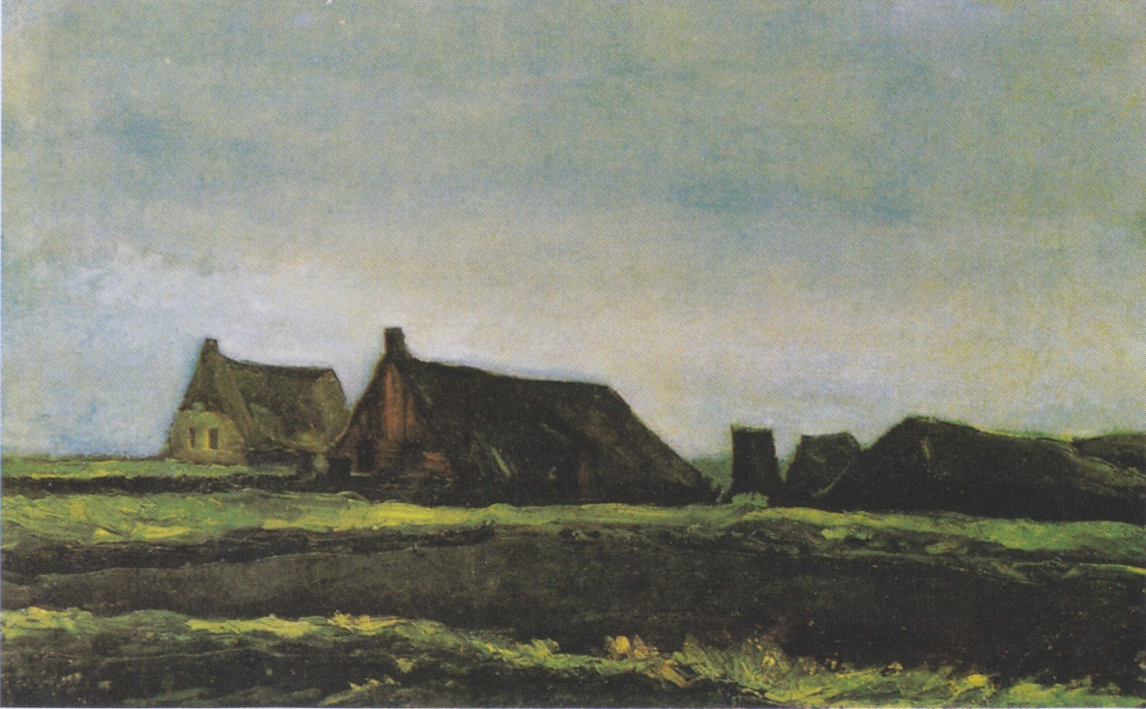 hawthron:  Cottages, Vincent Van Gogh, 1883