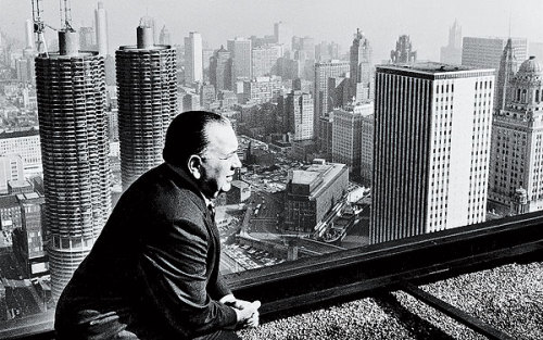 Mayor Richard J. Daley overlooking the city of Chicago. (Source: Chicago Tribune)