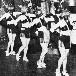 Yeah…I dig it. #chorusline #showgirls #gasmasks