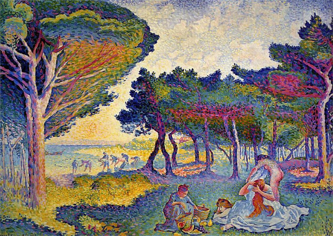 lonequixote:  By the Mediterranean ~ Henri-Edmond Cross