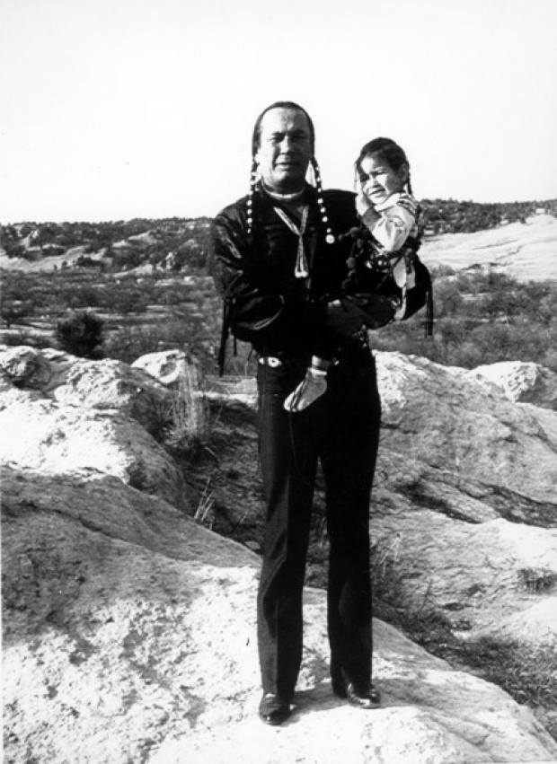 nativeamericannews:  Russell Means and son Tatanka