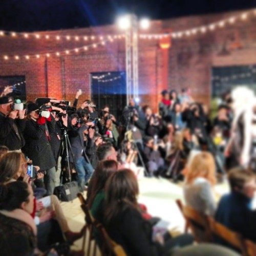 Look at that stocked photo pit! So proud of my @nashfashweek photographers for documenting this amazing week! #whynfw