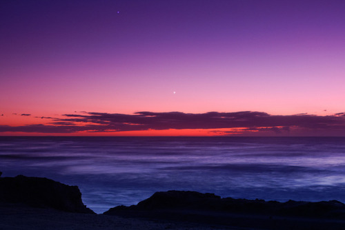 Venus and Saturn at Twilight by lrargerich on Flickr.