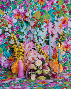 jessicadeancamp:  Rachel Stern  Still Life with Real and Fake Flowers