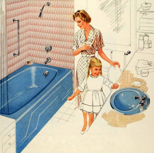 rogerwilkerson:  Modern as Tomorrow - 1959 Kohler Bathroom