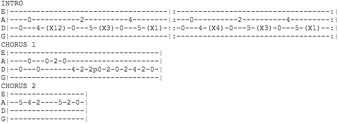 Mandolin mandolin tabs rock : Mandolin Tablature