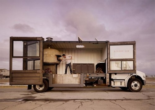 Moving Pizzeria, we love this.