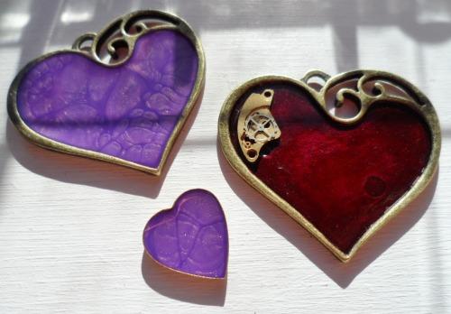 Enamel hearts love heart rings heart neckalces heart pendant