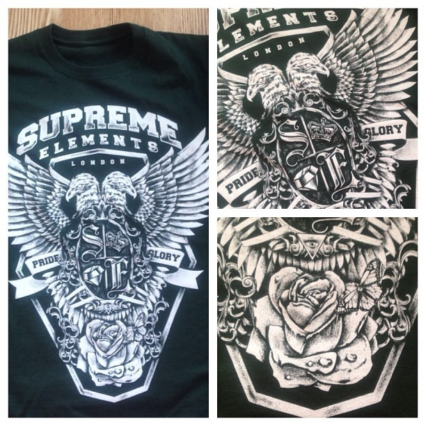 New Tee out next week! Check out the detail on the design! #new #release #tshirts #clothing #swag #style #supremeelementsclothing #streetwear #dope #design #fashion #eagle #iguk #igaddict #fashion #popular #picoftheday #photooftheday