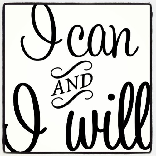 Repeat After Me: I Can AND I WILL #inspiration #typography (at United Club - Terminal C1)