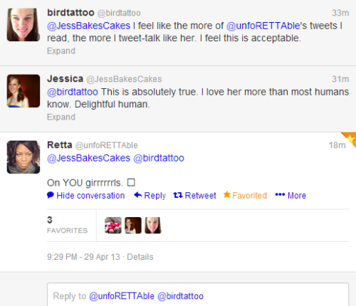 In case you missed it, Retta replied to me and Amanda on twitter.