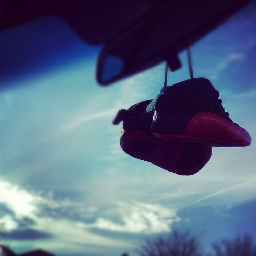 My sons Jordans hang when I ride !