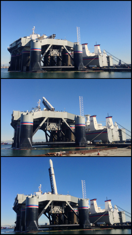 I went to Sea Launch today to watch them conduct the vertical test on the launch vehicle.
