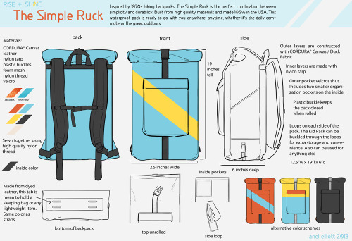 My main piece from my products final! The Simple Ruck. Simple but built to last.