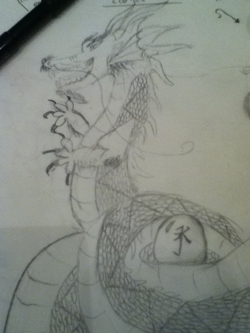 My rough sketch of my Eastern Chinese Dragon.