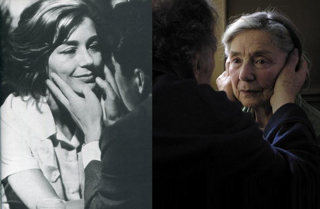josefksays:  Emmanuelle Riva in Hiroshima Mon Amour (1959) and Amour (2012)