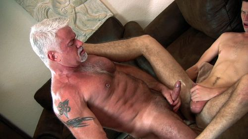 A horny and perverted old grandfather buys a young prostitute to play around with. The whore boy is doing everything against payment, barebacking and cum eating, and does not care if it is an old and nasty grandfater who just want to play with him and use him as as a young piece of meat.The rentboy is well worn and well accustomed to older men after a long time of beeing abused by his own daddy&#8217s brutal cock.