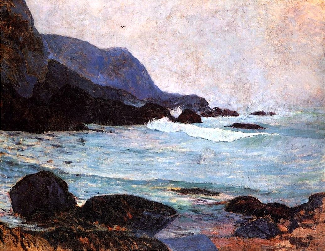 bofransson:  The Coast of Bellangenay - Paul Gauguin