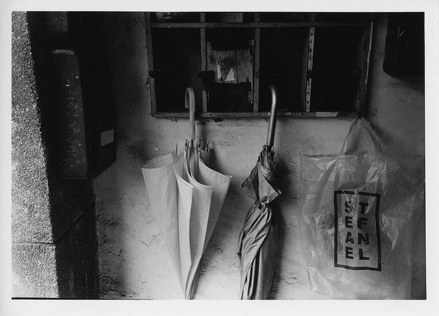 #273 Darkroom print - The umbrellas on Flickr. Zorki 4 Jupiter 12, Kodak TX400@800 Arista EDU Ultra RCVC, 5x7