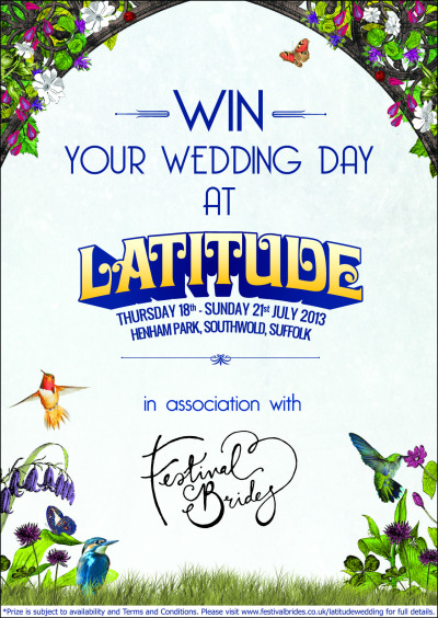 Ever dreamed of a wedding party at Latitude. Festival Brides may have the competition for you. http://festivalbrides.co.uk/latitudewedding