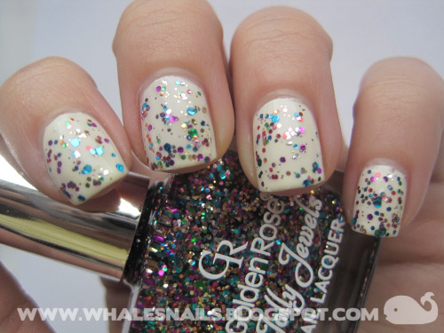 Golden Rose Jolly Jewels 119 http://www.whalesnails.blogspot.com/2013/02/jolly-jewels-119-golden-rose.html