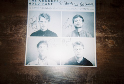 dipl0mat:  Record store day: my sister got a signed vinyl and a photo with the Crookes