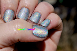 Full daylight shot of Julep's new holographic polish, Rebel!  Review over at my blog.
