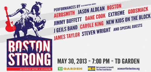 "Win 12 Luxury Suite Tickets to the ""sold out"" Boston Strong Benefit Concert at TD Garden on May 30th at 7PM!Net proceeds will benefit The One Fund Boston.For tickets and details visit:http://www.nhlalumniraffles.org/Raffles.aspx?id=270"