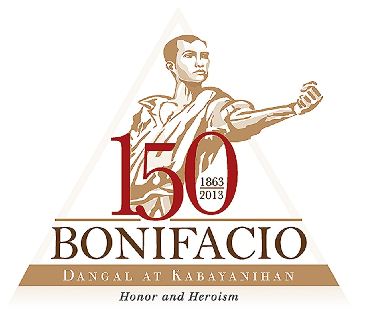 How many of you guys know that this year is going to be Andres Bonifacio's 150th? A grand celebration awaits. He was the first one, a Filipino, who sparked a revolution in Asia. Even when he was killed by his own countrymen, the legacy he left has outlasted him. Full of ironies and lessons, his life continues to be an inspiration to every Filipino. The official government website for the nationwide celebration is HERE.  *The logo above is the official logo of the 150th Bonifacio Sesquicentennial, from the National Historical Commission of the Philippines. I love the fact that the logo deviated from the screaming Bonifacio stereotype. His life was a firm and steadfast example, of honor and sacrifice even amidst defeat and betrayal.