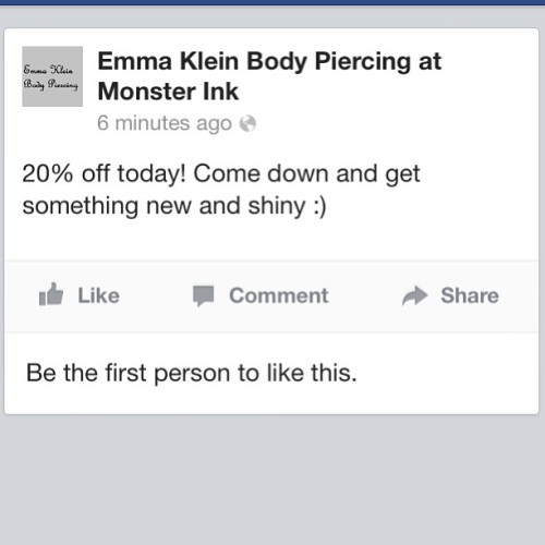 #middleton #piercing #bodypiercing #emmakleinbodypiercing #monsterink