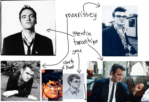 Setting things straight with Ryan, who looks like young Morrissey, who looks like young Quentin Tarantino. Ryan also looks kinda like Clark Kent.
