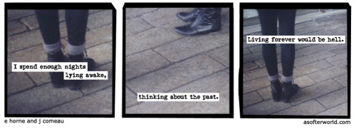 softerworld:  A Softer World: 934 (living forever is like living in a living nightmare) buy this print