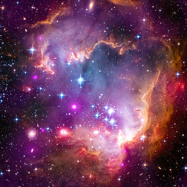 are we gonna talk about how the small magellanic cloud looks like a new born on its side   i can't trace for shit but long story short i'm fucking done with space