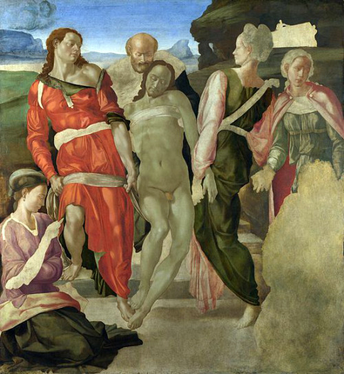 masterpiecedaily:  Michelangelo Buonarroti The Entombment 1510