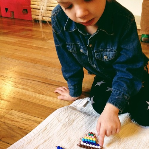 Building the short bead stair #montessori #math