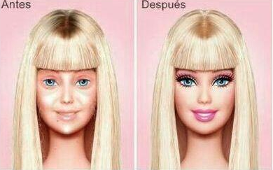cosythoughts:  Barbie Before and After makeup