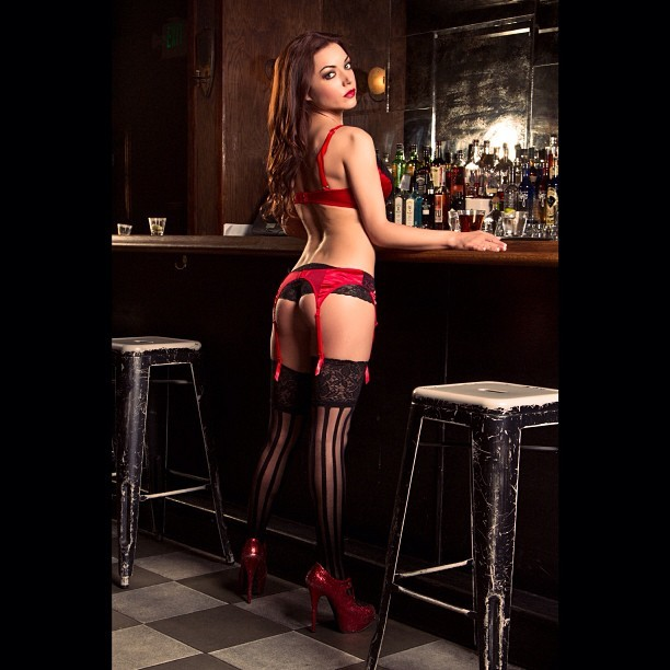@ms_gigimarie #model #la #lingerie #playboy #bar
