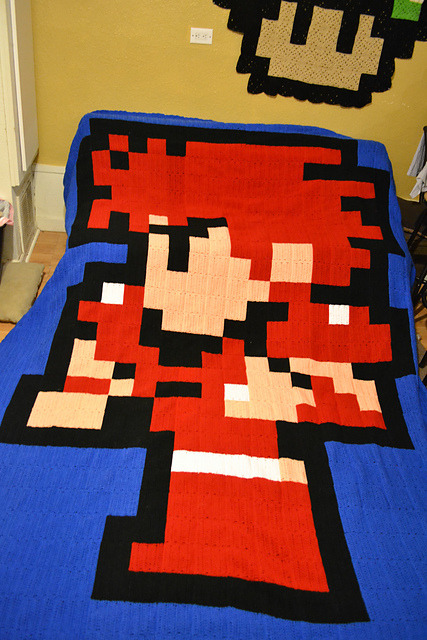 garnetk:  (via Ravelry: alliekuehn's Final Fantasy 1 fighter blanket)