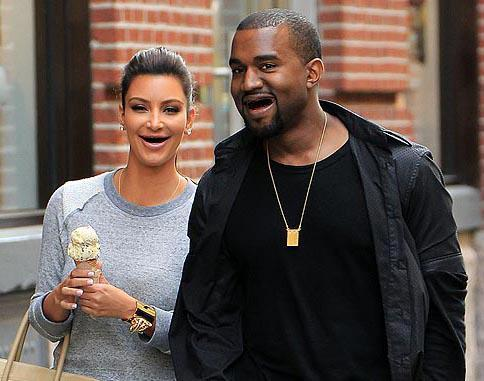 Kimye is all smiles.