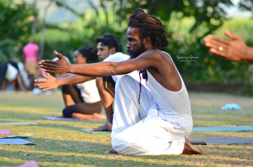 Photo Title: ~ Return… ~ {Image taken during the 'SOUL YOGA FEST' held at the Hope Botanical Gardens in Kingston, Jamaica by Master Kemetic Yoga Teacher, Yirser Ra Hotep.}