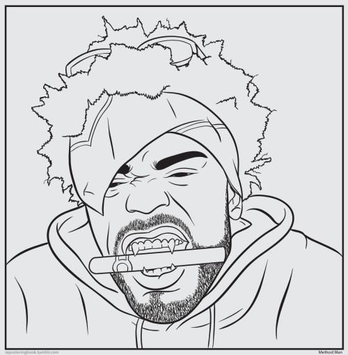 Click here to download the Method Man coloring page. Print it out. Color it. Listen to this while you do so. Tical.     Rap Coloring Book on Twitter